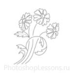 Кисти: цветочные орнаменты для Фотошопа - кисть 19