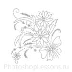 Кисти: цветочные орнаменты для Фотошопа - кисть 22