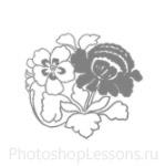 Кисти: цветочные орнаменты для Фотошопа - кисть 32