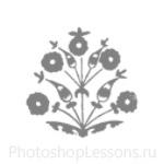 Кисти: цветочные орнаменты для Фотошопа - кисть 36