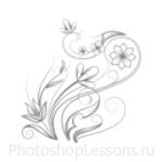 Кисти: цветочные орнаменты для Фотошопа - кисть 53