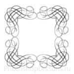Кисти: декоративные рамки для Фотошопа - кисть 15