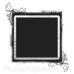 Кисти: декоративные рамки для Фотошопа - кисть 41