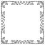 Кисти: декоративные рамки для Фотошопа - кисть 47