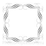 Кисти: декоративные рамки для Фотошопа - кисть 7