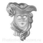 Кисти: маски для Фотошопа - кисть 58